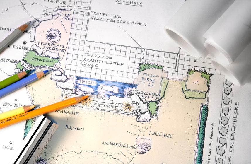 Planungs-Skizzierung